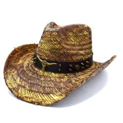 Cowboyhatt Tjur med nitar - handgjord hatt