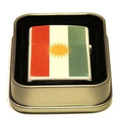 Kurdistans flagga bensintändare