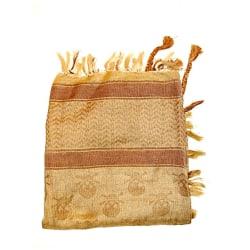 Palestinasjal - Döskallar brun - scarf Brun