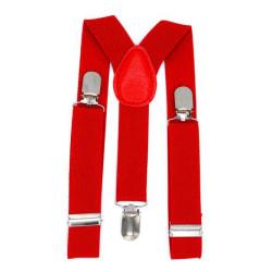 Röda hängslen - barnstorlek  Röd