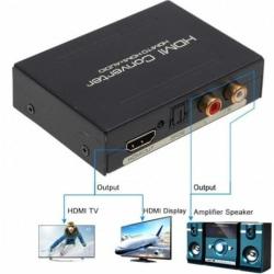 1080P Audio Extractor Converter Splitter HDMI till HDMI & Optisk Svart