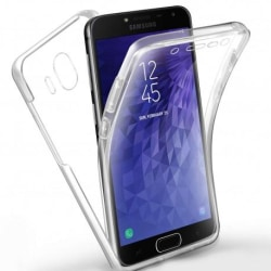 360° Heltäckande Silikonfodral Samsung J4 Plus SM-J415FN/DS Transparent