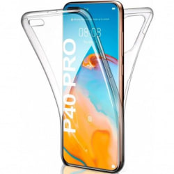 360° Heltäckande Silikonfodral Samsung P40 Pro Transparent