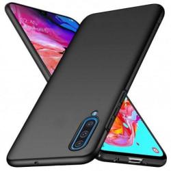 Samsung A70 Ultratunn Gummibelagd Mattsvart Skal Basic® V2 Svart