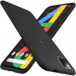 Google Pixel 4a 4G/LTE Ultratunn Stöttåligt Skal FullCarbon® V3 Svart