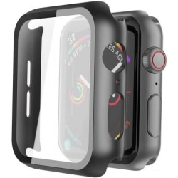 Apple Watch 38mm Stötdämpande Skal 9H Härdat Glas 2in1 Svart