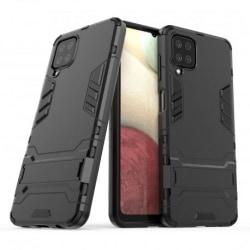 Samsung A12 Stöttåligt Skal med Kickstand ThinArmor® Svart