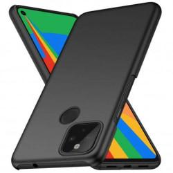 Google Pixel 4a 4G/LTE Ultratunn Gummibelagd Mattsvart Skal Basi Svart