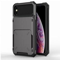 iPhone XR Stöttåligt Skal med Kortfack Void® Svart