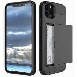 iPhone 11 Pro Max Stöttåligt Skal med Kortfack Svart