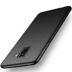Samsung A8 2018 Ultratunn Gummibelagd Mattsvart Skal Basic® V2 Svart