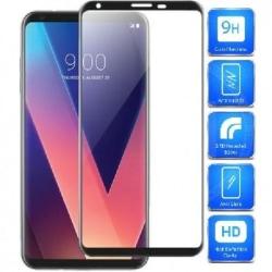 LG V30 FullFrame® 0.26mm 2.5D 9H Härdat Glas Svart