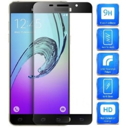 Samsung A5 2016 FullFrame® 0.26mm 2.5D 9H Härdat Glas Svart