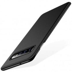 Samsung S10 Ultratunn Gummibelagd Mattsvart Skal Basic® V2 Svart