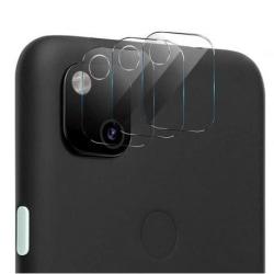 Google Pixel 4a 4G/LTE Kamera Linsskydd Härdat Glas Transparent