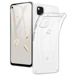 Google Pixel 4a 4G/LTE Stötdämpande Mjukt Skal Simple® Transparent