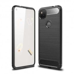 Google Pixel 4a 4G/LTE Stöttåligt Skal SlimCarbon® Svart