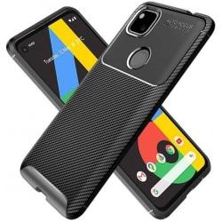 Google Pixel 4a 4G/LTE Stöttåligt Slimmat Skal FullCarbon® V4 Svart