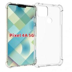 Google Pixel 4a 5G Stötdämpande Silikon Skal Shockr® Transparent