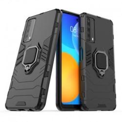Huawei P Smart 2021 Stöttåligt Skal med Ringhållare ThinArmor® Svart