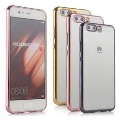 Huawei P10 Stötdämpande Gummiskal Silver