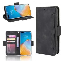 Huawei P40 Pro Plånboksfodral PU-Läder 6-FACK Winston® V3 Svart