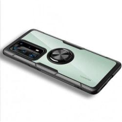Huawei P40 Pro Praktisk Stöttåligt Skal med Ringhållare V4 Svart