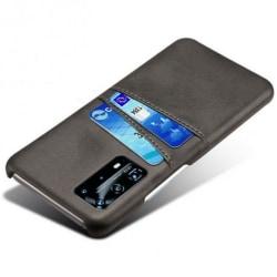 Huawei P40 Pro Stötdämpande Korthållare Retro® V2 Svart