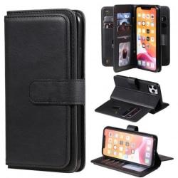 iPhone 11 Pro Max Praktisk Plånboksfodral med 11-Fack Array® V2 Svart