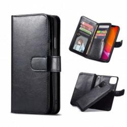 iPhone 11 Pro Max Praktiskt Plånboksfodral 2in1 med 11-Fack Loop Svart
