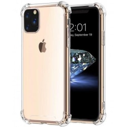 iPhone 11 Pro Max Stötdämpande Silikon Skal Shockr® Transparent