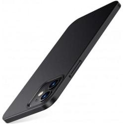 iPhone 12 Mini Ultratunn Gummibelagd Mattsvart Skal Basic® V2 Svart
