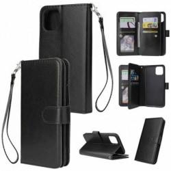 iPhone 12 Pro Praktisk Plånboksfodral med 10-Fack Array® Svart