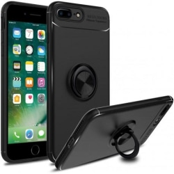 iPhone 7 Plus Praktisk Stöttåligt Skal med Ringhållare V3 Svart
