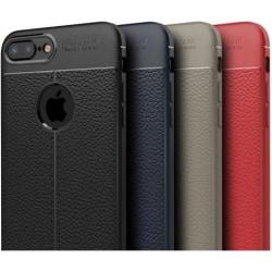 iPhone 8 Plus Stöttåligt & Stötdämpande Skal LeatherBack® Svart