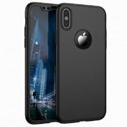 iPhone XR | 360° 3in1 FullCover Skal + 0.26mm 9H Glas Svart