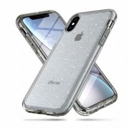 iPhone XR Stötdämpande Mobilskal Gnistra Svart Silver