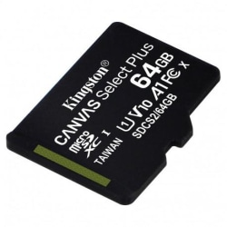 Kingston Canvas Select Plus MicroSD 64GB Svart