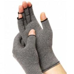 Kompressionshandskar Artrit Handledsstöd Grå Black Large