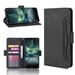 Nokia 7.2 Plånboksfodral PU-Läder 6-FACK Winston® V3 Svart