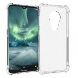 Nokia 7.2 Stötdämpande Silikon Skal Shockr® Transparent
