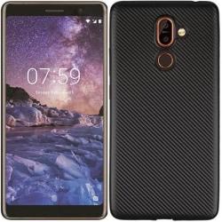 Nokia 7 Plus Stöttåligt Skal FullCarbon® V2 Svart