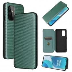 OnePlus 9 Flipfodral Kortfack CarbonDreams® Grön Grön