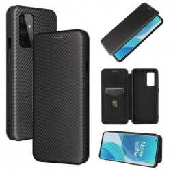 OnePlus 9 Flipfodral Kortfack CarbonDreams® Svart