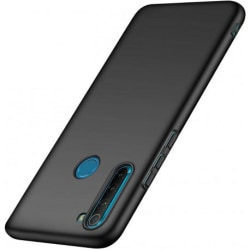 Redmi Note 8 Ultratunn Gummibelagd Mattsvart Skal Basic® V2 Svart