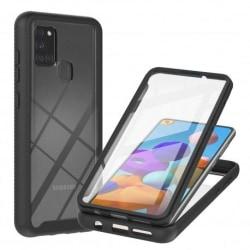 Samsung A21s Heltäckande Premium 3D Skal ThreeSixty® Transparent