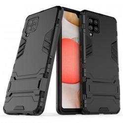 Samsung A42 5G Stöttåligt Skal med Kickstand ThinArmor® Svart