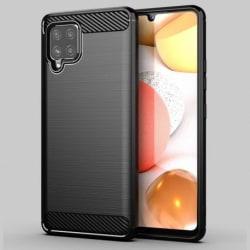 Samsung A42 5G Stöttåligt Skal SlimCarbon® Svart