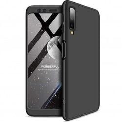 Samsung A70 360° 3in1 FullCover Skal inkl. Härdat Glas Svart