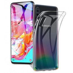 Samsung A70 Stötdämpande Silikon Skal Simple® Transparent